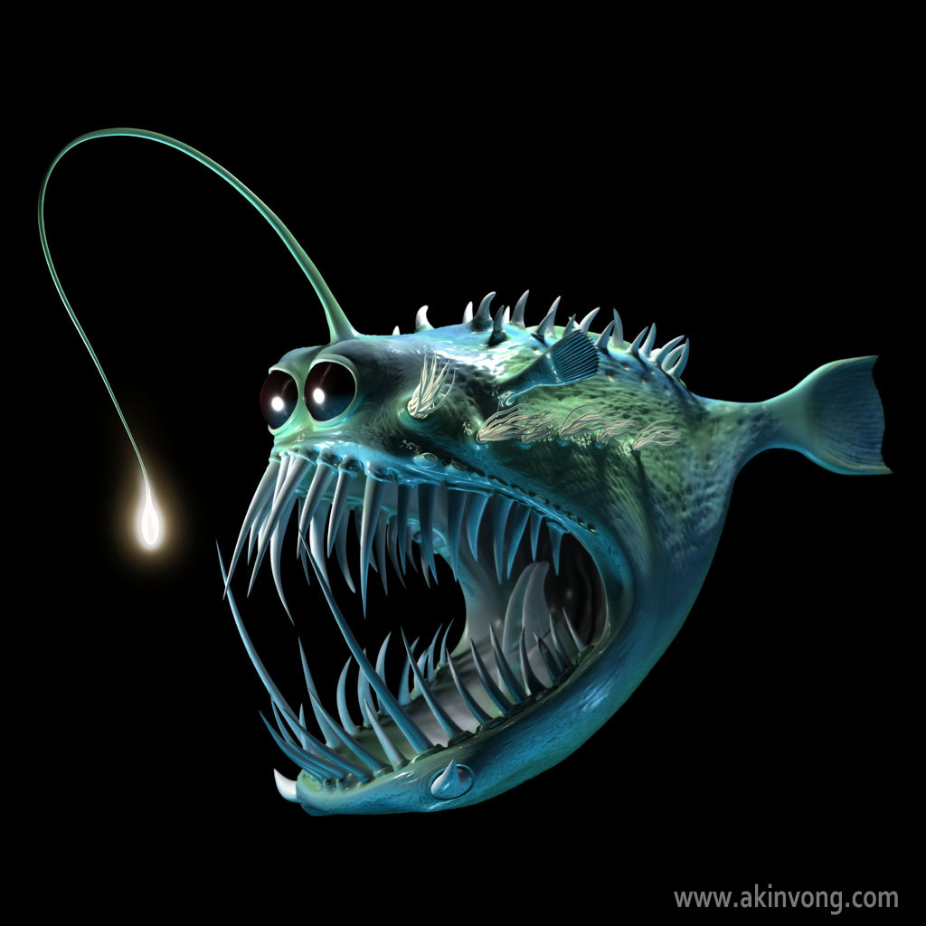 for What do angler fish eat